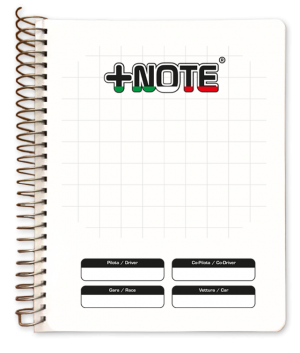 Big co-driver pacenote book +Note with metal spiral