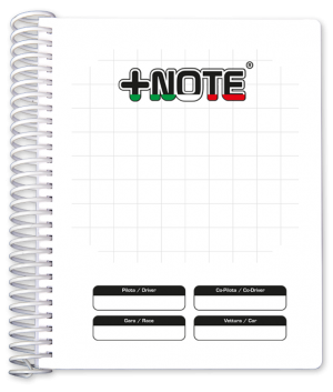 Big co-driver pacenote book +Note with plastic spiral