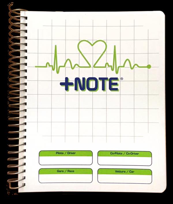 Quaderno note rally +Note con spirale in metallo, colore bianco verde