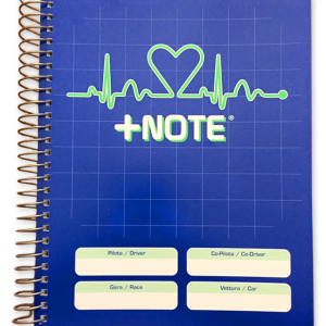 Quaderno note rally +Note con spirale in metallo, colore blu