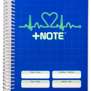 Quaderno note rally +Note con spirale in plastica, colore blu