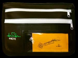 Tasca laterale abitacolo +Note, lato pilota