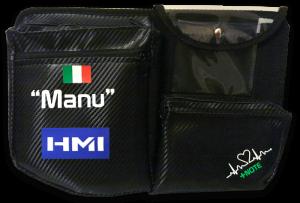 Tasca laterale abitacolo +Note, lato navigatore, personalizzata